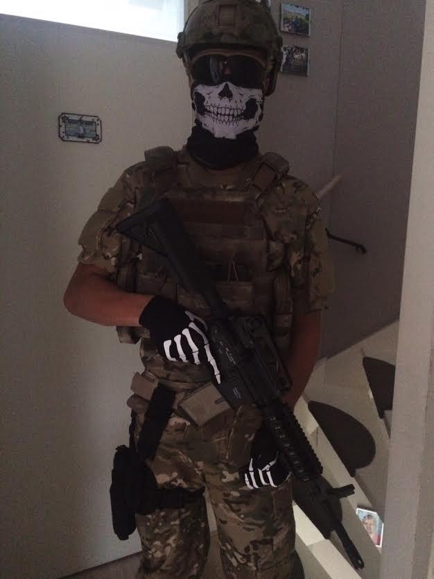 Bandanasjaal Skull + Skelet Handschoenen