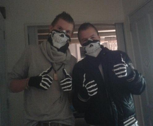 Bandana Skull + Skelet Handschoenen