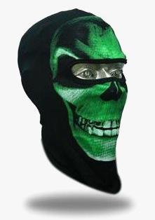 Bivakmuts groene schedel