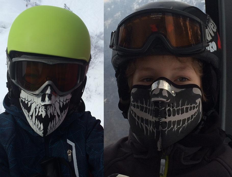 Facemask Skull Fangs + Facemask Röntgen Schedel