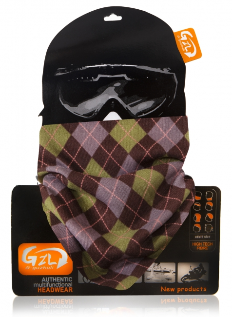 Bandana Scarf Purple Checkered