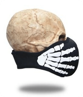 Face Mask Bone Hands
