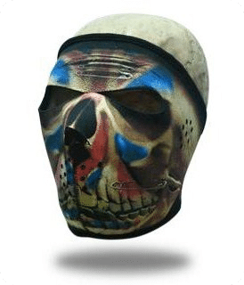 Face Mask Clown Skull Full Frontal