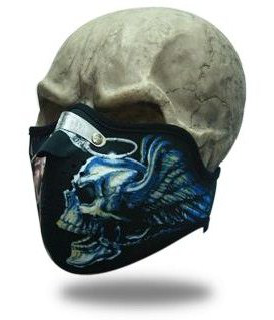 Face Mask Flying Skull