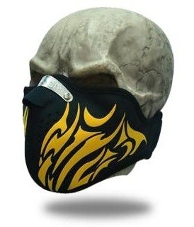 Facemask Golden Tribal