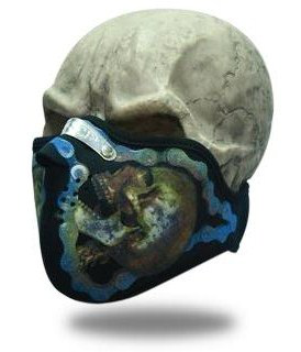 Face Mask Metal Skull