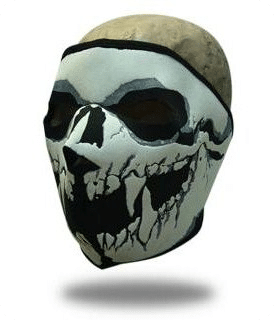 Face Mask Skull Full Frontal