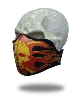 Facemask Skull of Flames