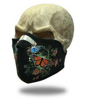 Face Mask Twisted Butterflies