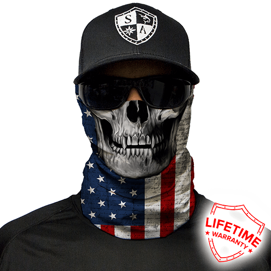 Faceshield American Flag Skull
