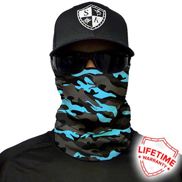 Faceshield Aqua Military Blackout Camo