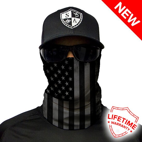 Face Shield Blackout American Flag