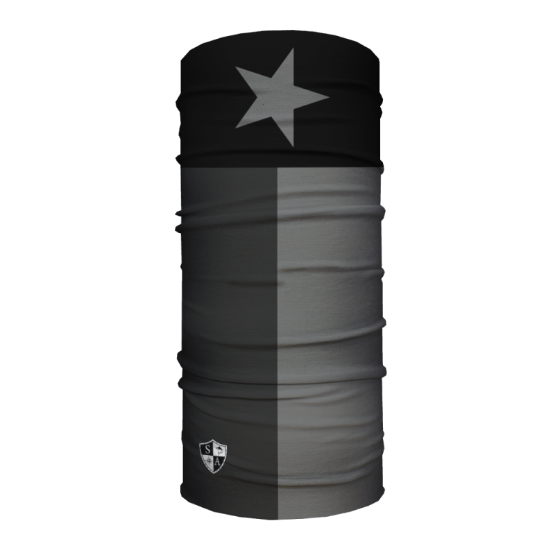 Face Shield Blackout Texas State Flag