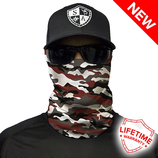 Faceshield Crimson Military Camo