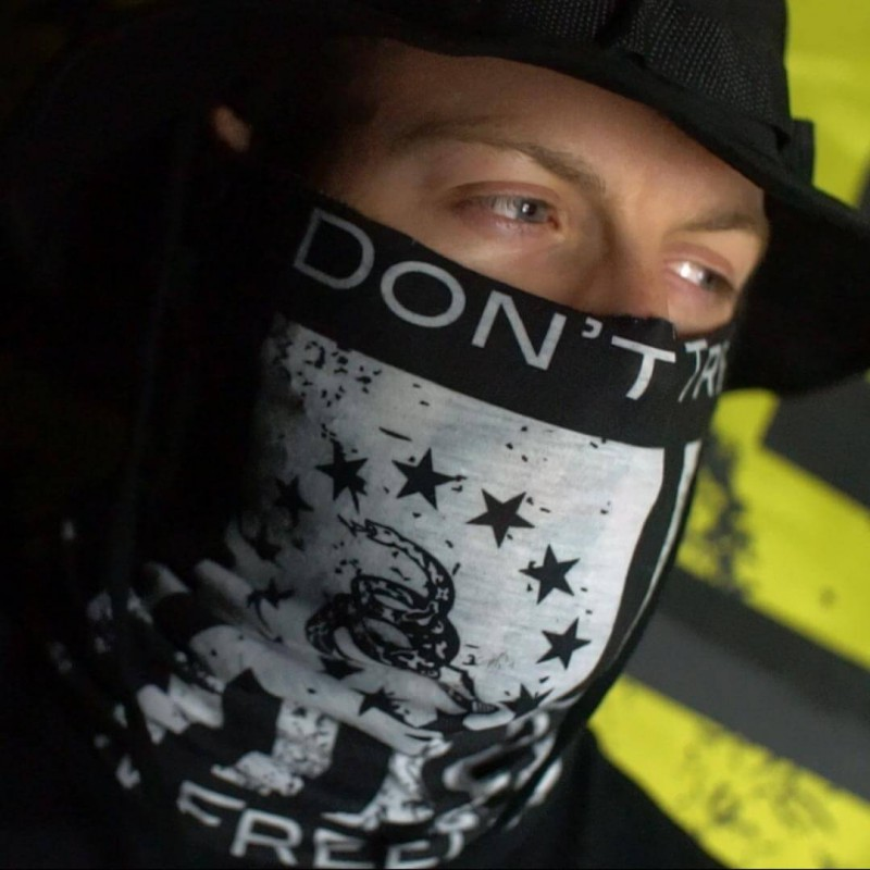 Faceshield Fire Don't Tread on Freedom™ Black & White