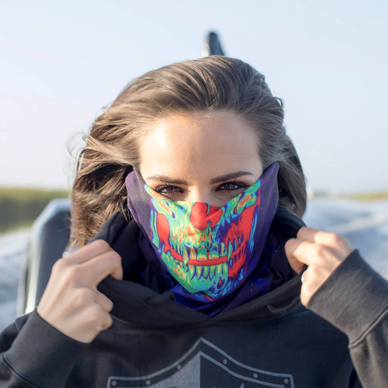 Face Shield Galactic Skull