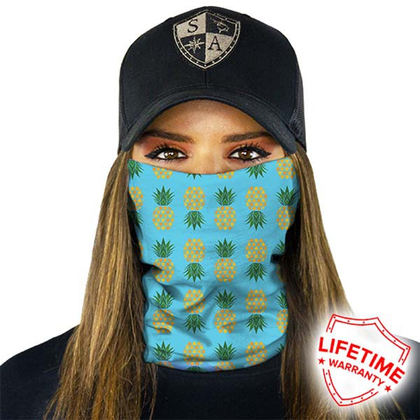 Face Shield Pineapple Turquoise