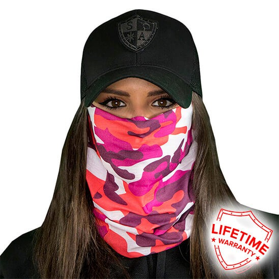 Face Shield Pink Camo