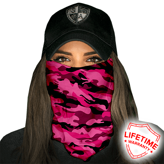 Faceshield Pink Military Camo