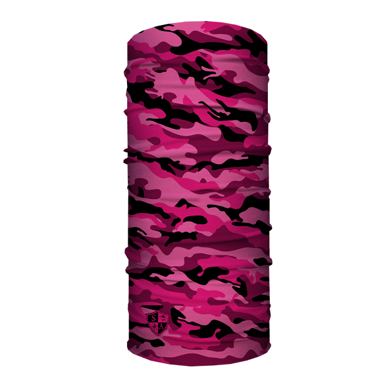 Face Shield Pink Military Camo