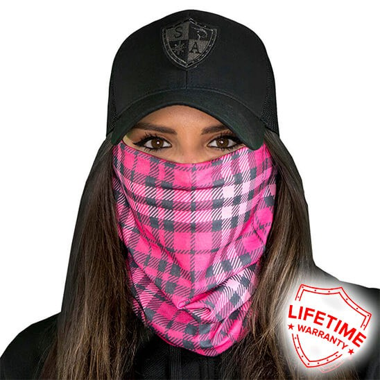 Faceshield Pink Plaid
