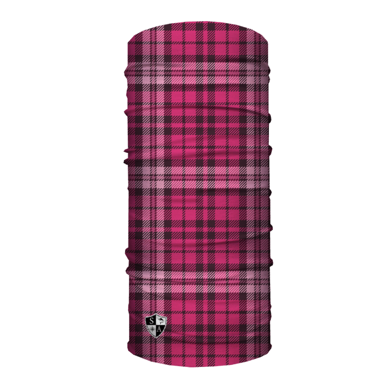 Face Shield Pink Plaid