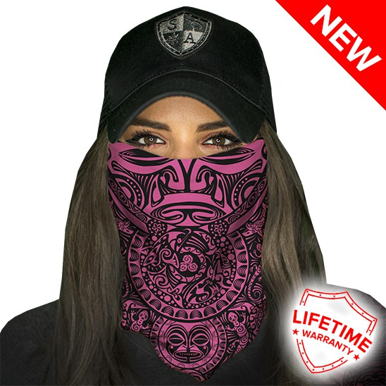 Faceshield Polynesian Tribal Pink