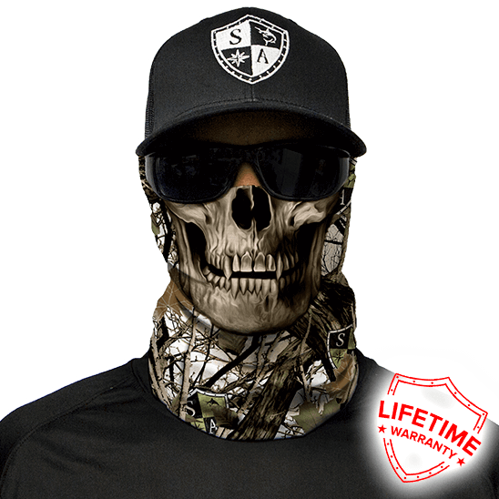 Faceshield SA Snow Camo Skull