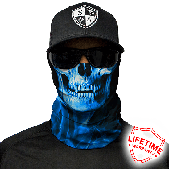 Faceshield Skull Tech Blue Crow