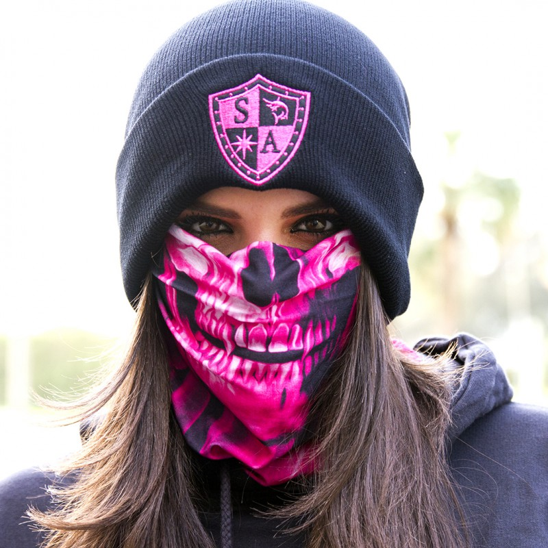 Faceshield Skull Tech Pink Crow