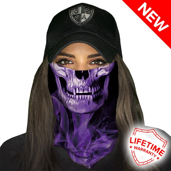 Faceshield Skull Tech Purple Crow