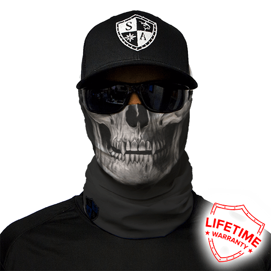 Face Shield Tactical Black Skull