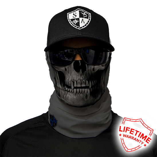 Face Shield Tactical Grey Skull