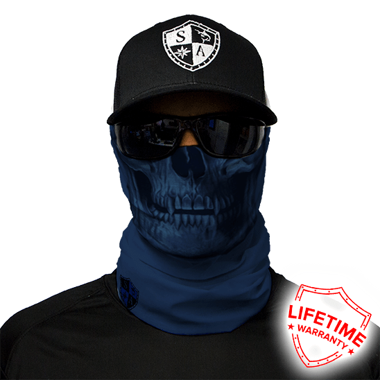 Face Shield Tactical Navy Skull