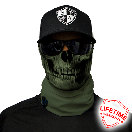 Faceshield Tactical OD Green Skull