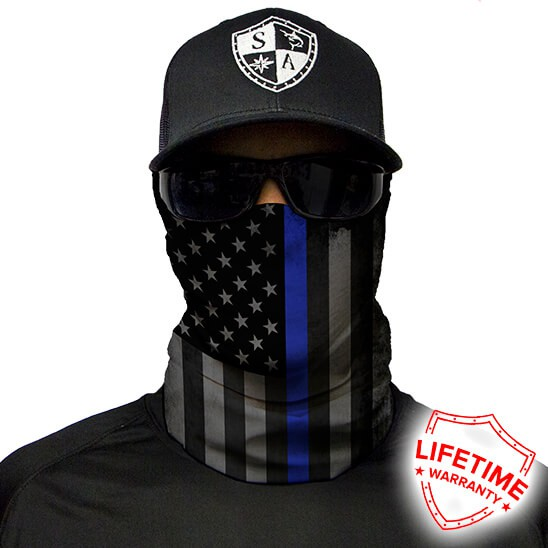 Face Shield Thin Blue Line Flag