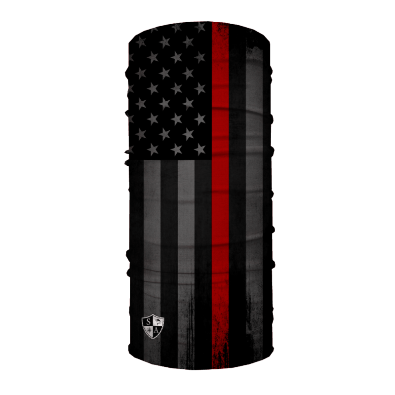 Face Shield Thin Red Line Flag