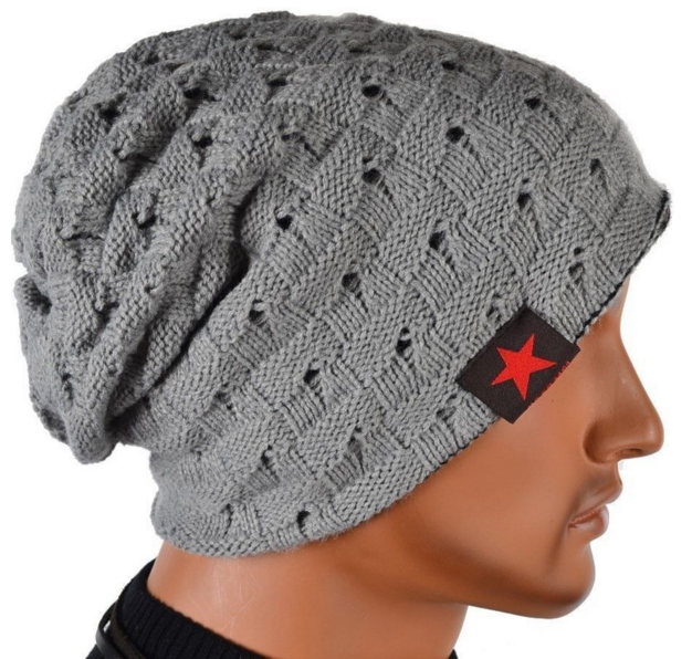 Grey beanie with star